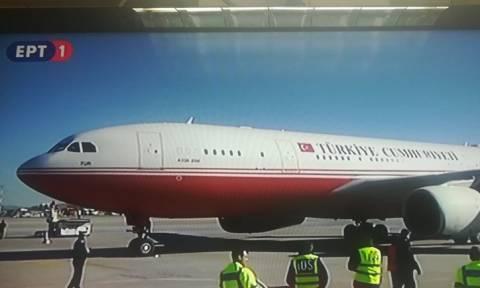 Έφτασε στην Αθήνα ο Ερντογάν – Η υποδοχή στο αεροδρόμιο