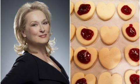 Φτιάξτε τα αγαπημένα μπισκότα με μαρμελάδα, της Meryl Streep