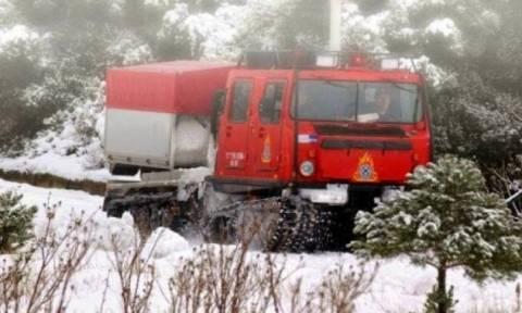 Εκδρομείς εγκλωβίστηκαν στον πάγο - Επιχείρηση της Πυροσβεστικής στη Φωκίδα