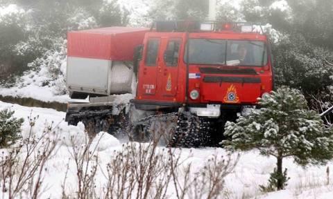 Ολονύχτιο θρίλερ στα Βαρδούσια: Τέσσερα άτομα εγκλωβίστηκαν στον παγετό