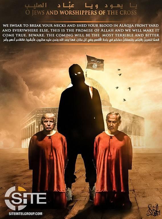Το Ισλαμικό Κράτος απειλεί Τραμπ και Νετανιάχου: Θα χυθεί αίμα (pics)