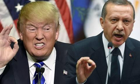 Μετωπική σύγκρουση Τουρκίας – ΗΠΑ: «Ξεσπάθωσε» ο Ερντογάν κατά του Ντόναλντ Τραμπ