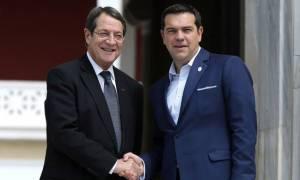 Κυπριακό: Σύμπτωση απόψεων Αναστασιάδη και Τσίπρα για νέα Διάσκεψη