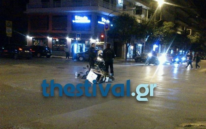 Τροχαίο με έναν τραυματία στην ανατολική Θεσσαλονίκη (pic)
