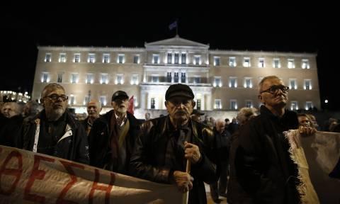 Ολοκληρώθηκε το συλλαλητήριο των συνταξιούχων στο Σύνταγμα