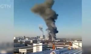 Τραγωδία στην Κίνα: Εφτά νεκροί από φωτιά σε εργοστάσιο χημικών (vid)