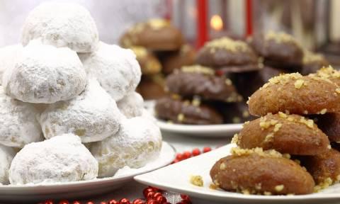 Κουραμπιέδες, μελομακάρονα, δίπλες: Δείτε πόσες θερμίδες έχουν τα γλυκά των γιορτών