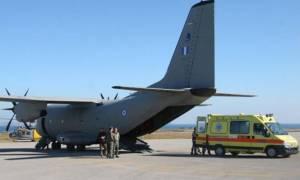 Αεροδιακομιδή ζωής για τρία άτομα στο Ηράκλειο