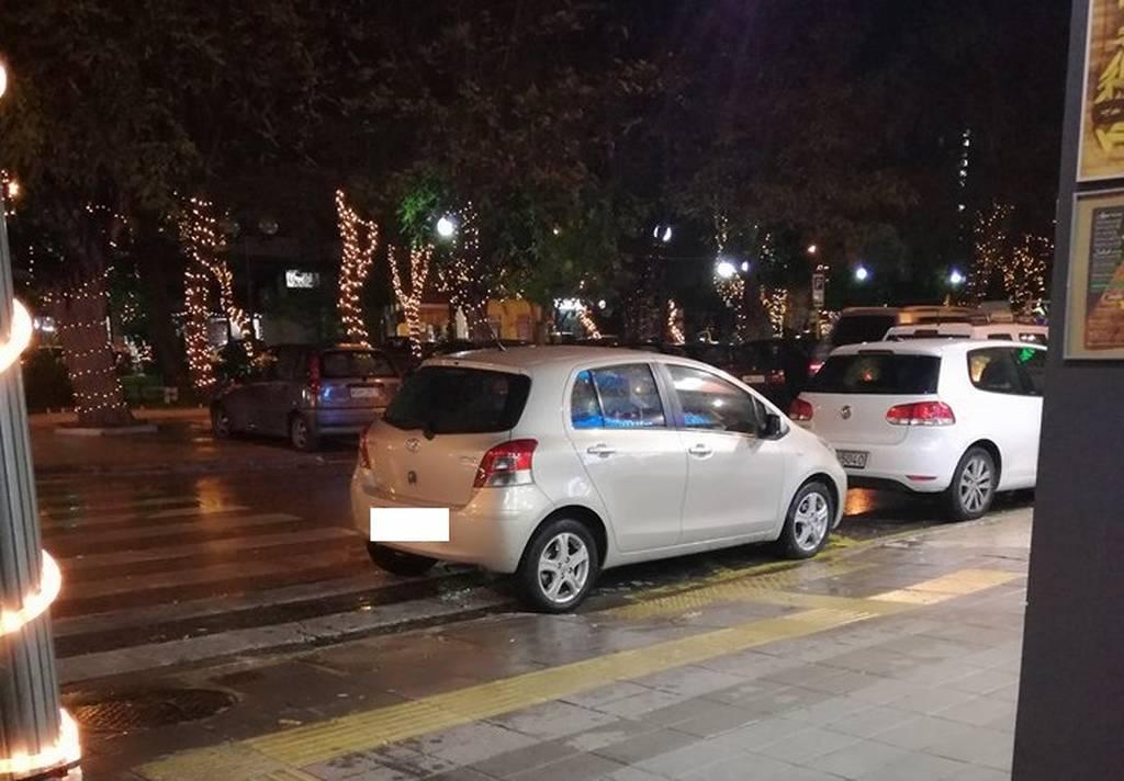 Χανιά: Η απίστευτη ατάκα γυναίκας οδηγού που πάρκαρε παράνομα το όχημά της