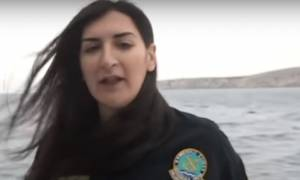 Η μοναδική γυναίκα μηχανικός του Λιμενικού υπηρετεί στα Ίμια (vid)