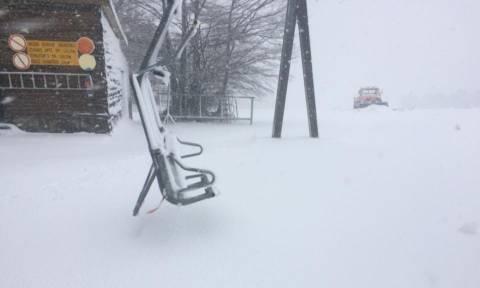 Καιρός - Γρεβενά: Πυκνή χιονόπτωση στη Βασιλίτσα (vid)