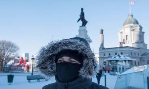 Καναδάς: «Σαρώνει» τη χώρα το πολικό ψύχος με θερμοκρασίες που ξεπερνούν τους -40! (pics)