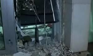 Βαρυμπόμπη: Έκρηξη σε ΑΤΜ τράπεζας τα ξημερώματα με μεγάλες υλικές ζημιές (pic)