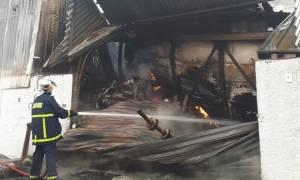 Νέα Θεσσαλονίκη: Στάχτη 4 βιομηχανίες από μεγάλη πυρκαγιά (Φωτορεπορτάζ)