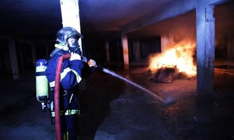 Καματερό: Φωτιά σε υπόγειο πάρκινγκ