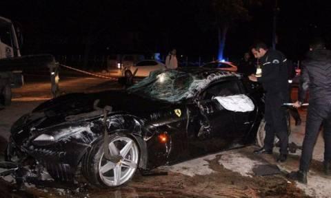Σοκαριστικές εικόνες από την καταστροφή της Ferrari του Γιλμάζ! (vid)