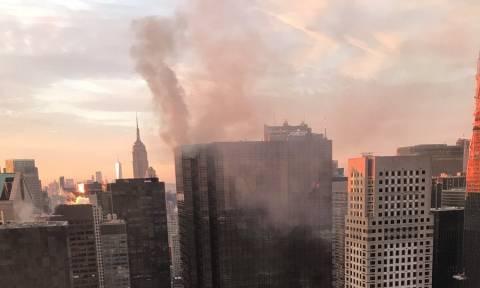Φωτιά: Στις φλόγες η οροφή του Trump Tower στη Νέα Υόρκη (vids)