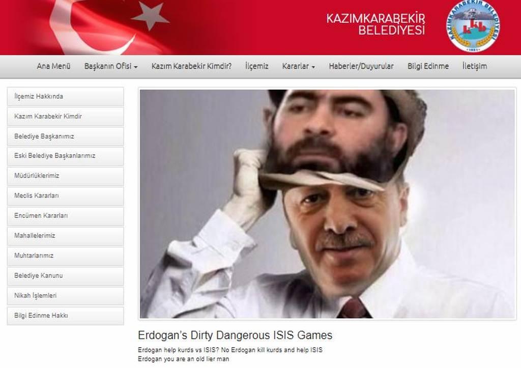 Οι Anonymous Greece «έντυσαν» τον Ερντογάν γυναίκα (Pics)