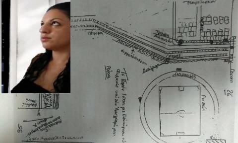 Αποκάλυψη – ΣΟΚ - Δώρα Ζέμπερη: Αυτό είναι το χειρόγραφο σχεδιάγραμμα της δολοφονίας της