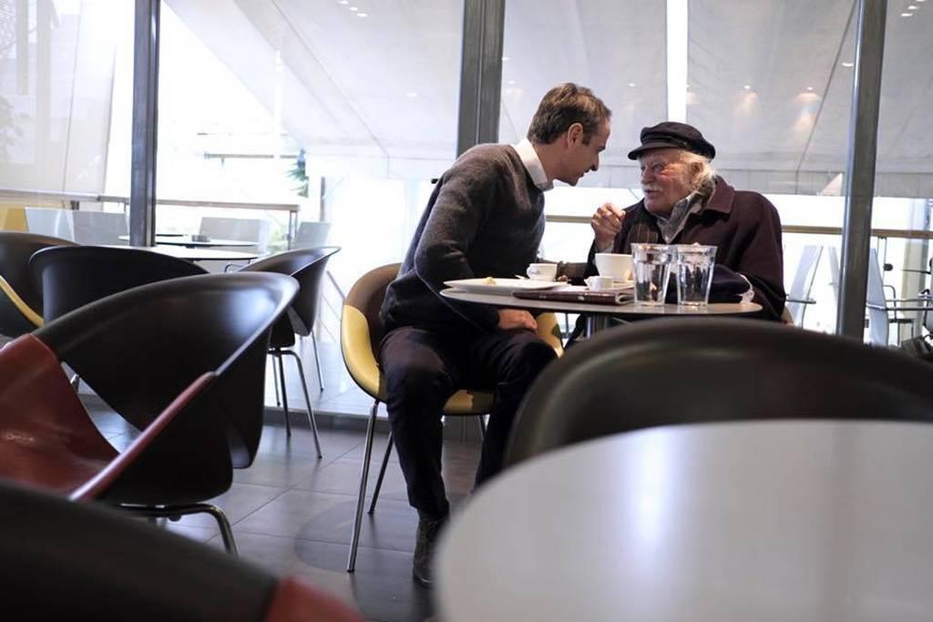 Γλέζος και Μητσοτάκης ήπιαν καφέ παρέα στη Λαμία (pics)