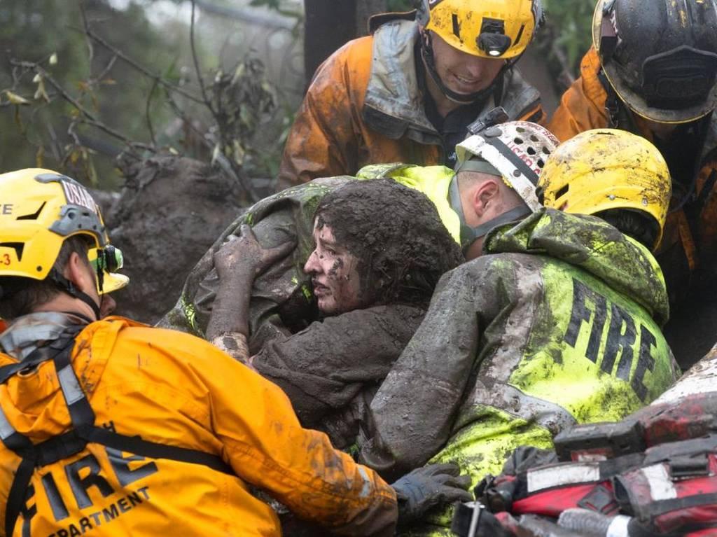 Τραγωδία στην Καλιφόρνια: Συγκλονιστικό βίντεο από την κατολίσθηση λάσπης - Στους 15 οι νεκροί