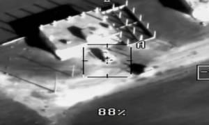 «Φωτιά» από ψηλά: Συγκλονιστικό βίντεο της επίθεσης των Ρώσων κατά των «σαμποτέρ με τα drones»