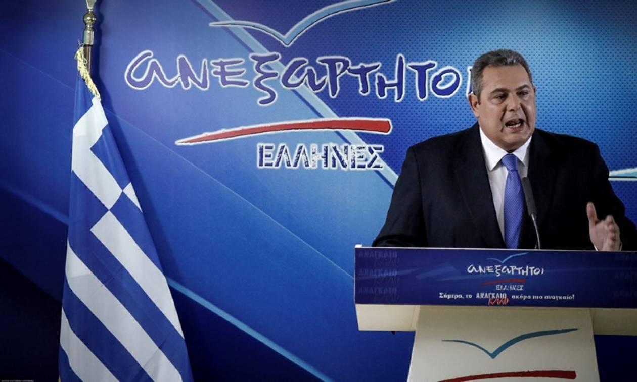 Δημοψήφισμα για την ονομασία των Σκοπίων ζητά ο Καμμένος