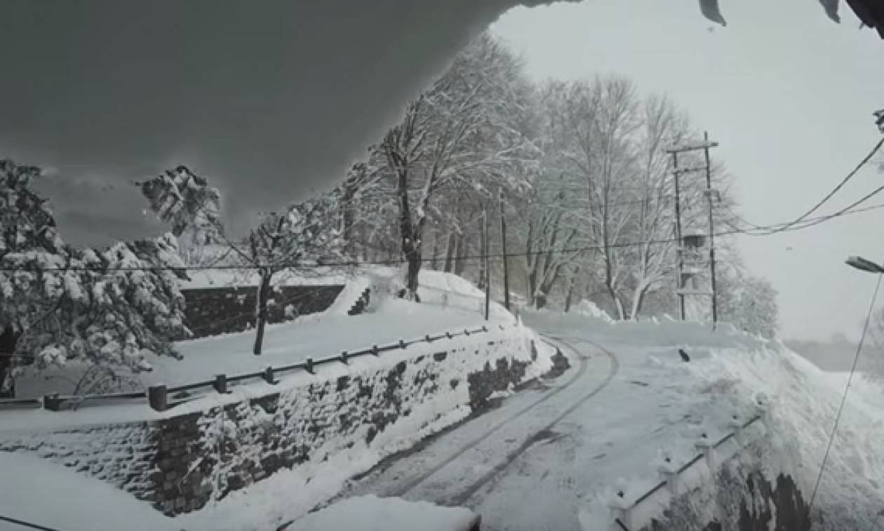 Time-lapse: Η… επέλαση του «Θησέα» στα Χάνια Πηλίου (Video)