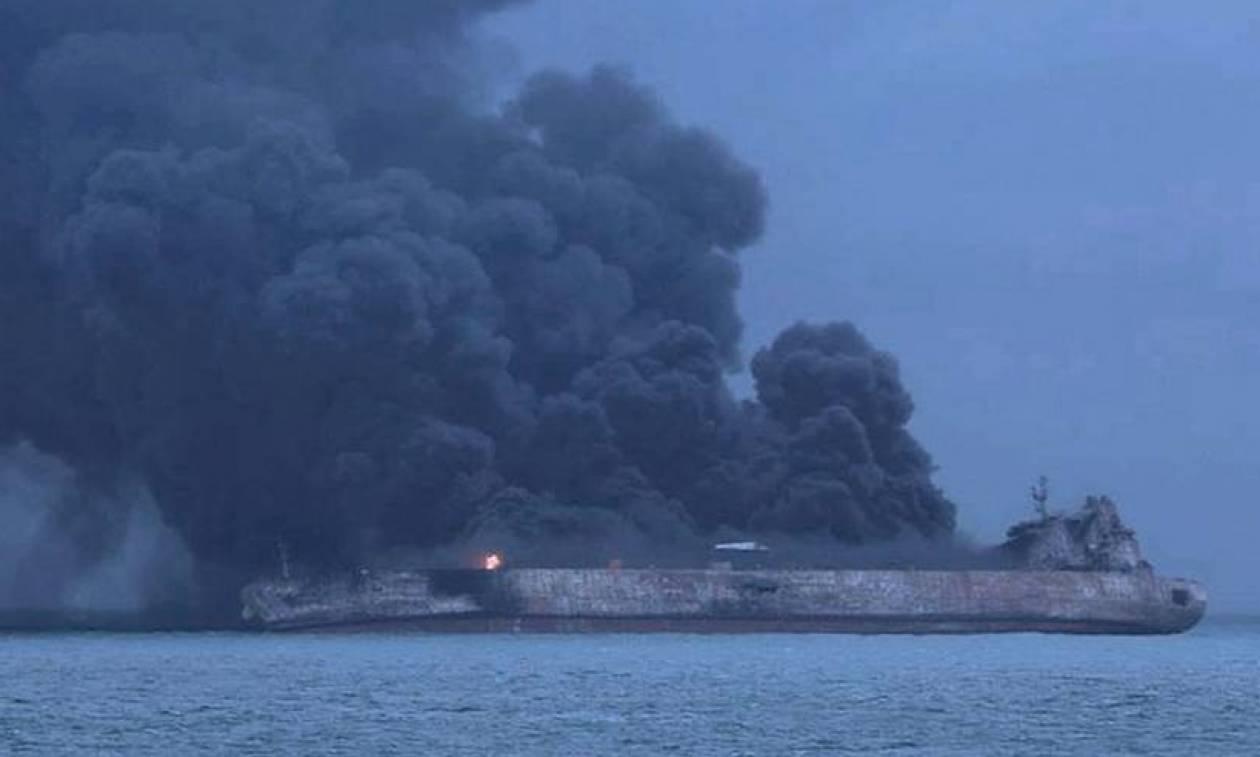 Κίνα: Μεγάλη πετρελαιοκηλίδα στην Ανατολική Σινική Θάλασσα από το δεξαμενόπλοιο που βυθίστηκε