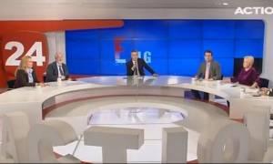 Σεισμός Αθήνα - Συγκλονιστικό βίντεο: Η στιγμή του σεισμού στον «αέρα» εκπομπής