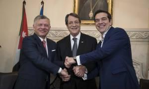 Τσίπρας, Αναστασιάδης, βασιλιάς Αμπντάλα: Πυλώνες σταθερότητας, ειρήνης και ασφάλειας οι χώρες μας