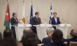 Η Κοινή Διακήρυξη της τριμερούς Ελλάδας-Κύπρου-Ιορδανίας