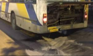 Καταγγελία σοκ: Εξερράγη η μηχανή λεωφορείου στην Πατησίων (pics)