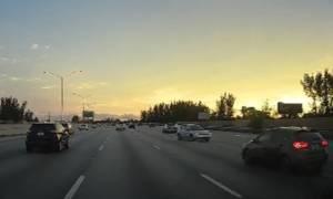 Μεγάλη μαγκιά: Δείτε πώς «έκοψε» το τιμόνι για να αποφύγει το τρακάρισμα! (vid)