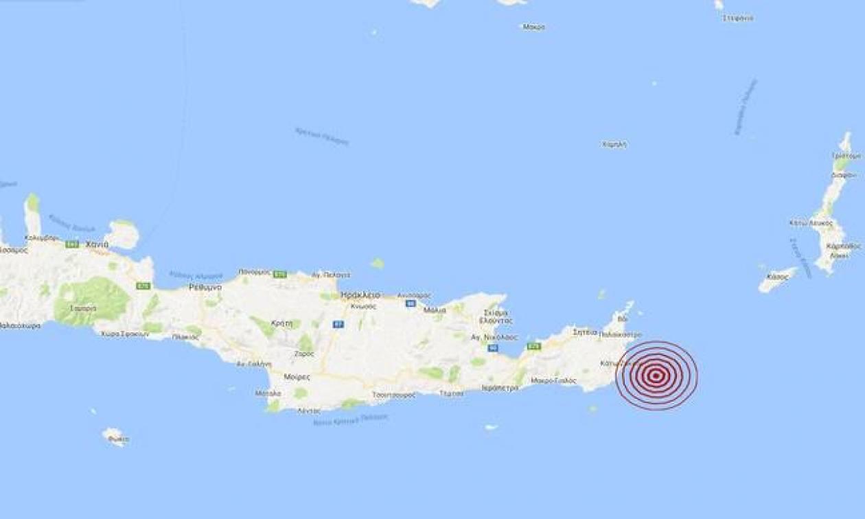 Σεισμός ανατολικά της Κρήτης (pics)