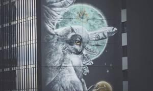 Ένα γκράφιτι μεγαλύτερο από το Άγαλμα της Ελευθερίας που έχει «ρίζες» ελληνικές