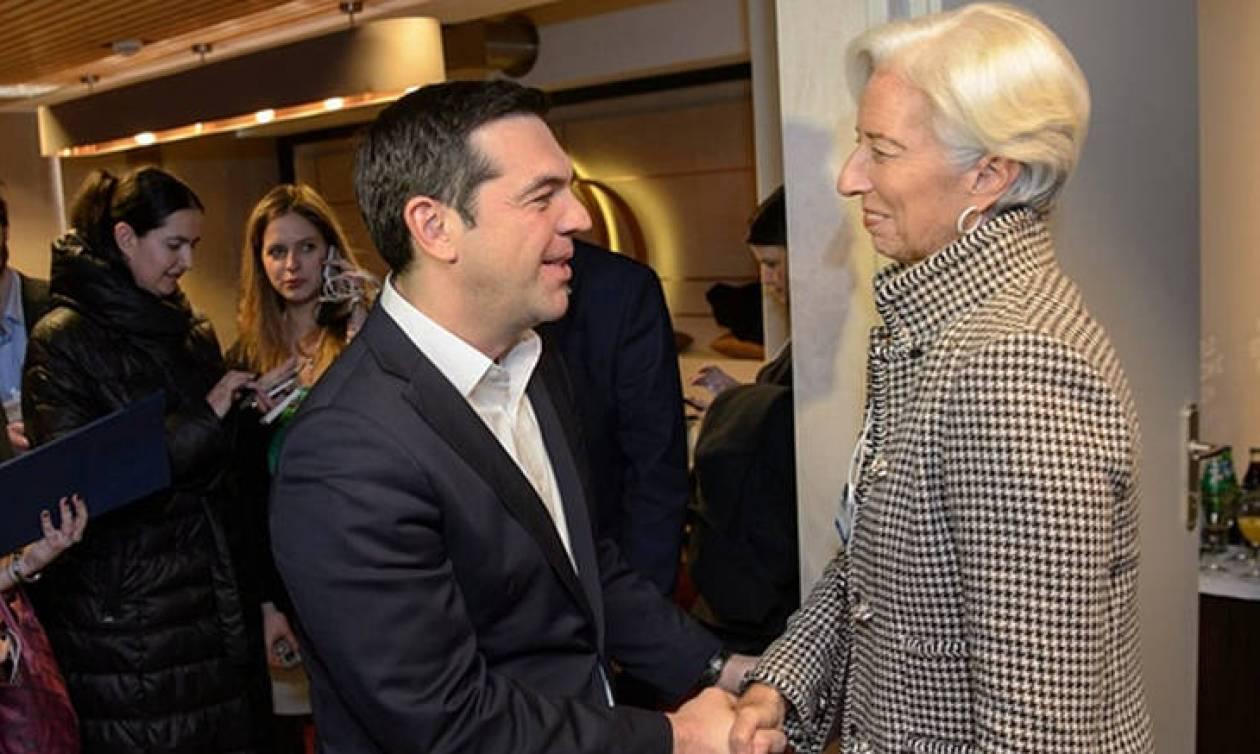 Δύσκολη η «εξίσωση ΔΝΤ» για την Αθήνα: Συνάντηση Τσίπρα - Λαγκάρντ στο Νταβός