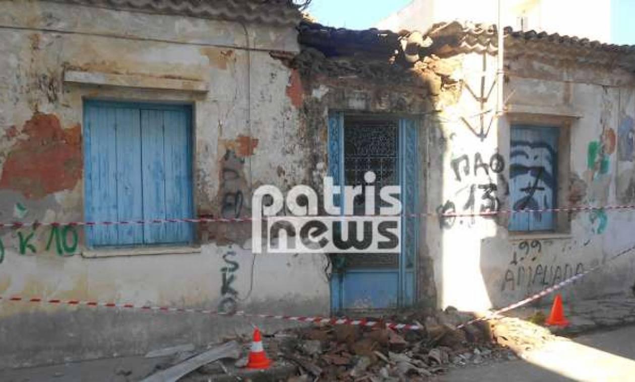Παραλίγο τραγωδία στην Αμαλιάδα: Πατέρας και γιος κινδύνευσαν από ετοιμόρροπο κτήριο