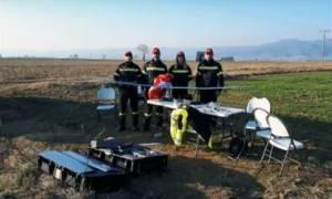 Μοναδικό βίντεο: Το drone της Πυροσβεστικής αναζητά αγνοούμενο στη Βόλβη