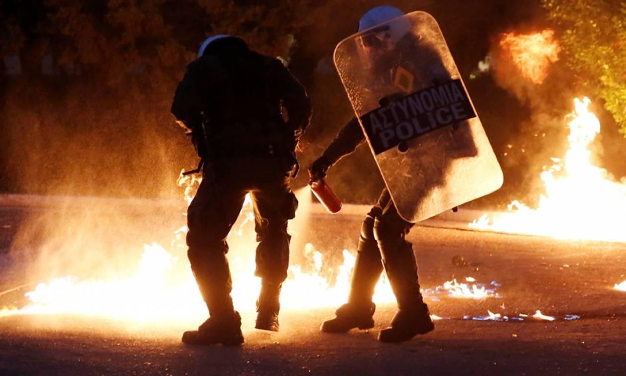 Ένα ακόμα βράδυ επεισοδίων στο κέντρο της Αθήνας