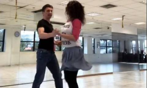 DWTS 6: Η Δωροθέα Μερκούρη «λιώνει» στις πρόβες για τη νέα της χορογραφία