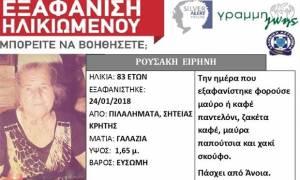 Κρήτη: Πέμπτη ημέρα αγωνίας για την αγνοούμενη ηλικιωμένη - Θερμικές κάμερες χρησιμοποιούν οι Αρχές