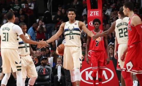 NBA: Τα μαγικά Αντετοκούνμπο με Μπουλς (vid)
