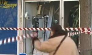 Παπάγου: ΑΤΜ εκτοξεύθηκε στο δρόμο
