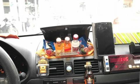 Στο ταξί του Μάκη θα φας και πρωινό – Δείτε φωτογραφίες (pics)