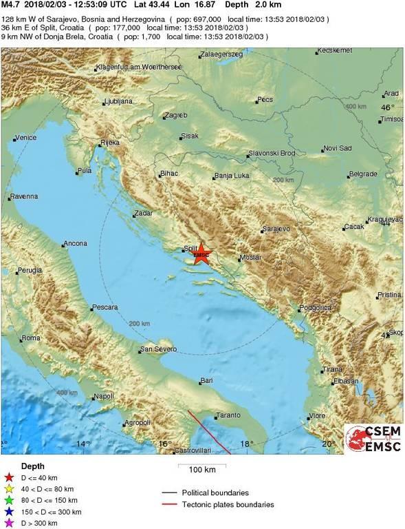 Ισχυτός σεισμός ΤΩΡΑ στη Βοσνία - Ερζεγοβίνη
