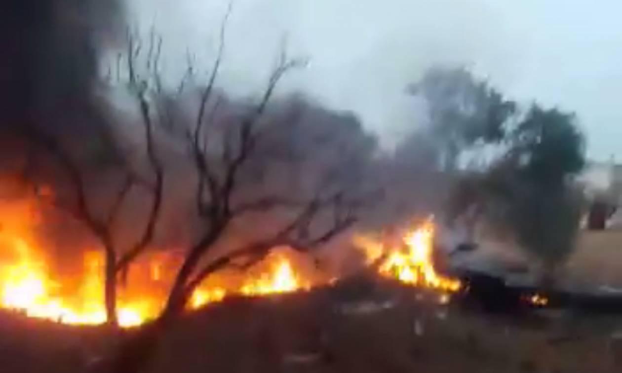 Συρία: Aντάρτες κατέρριψαν ρωσικό μαχητικό - Σκοτώθηκε ο πιλότος – Δείτε συγκλονιστικά βίντεο