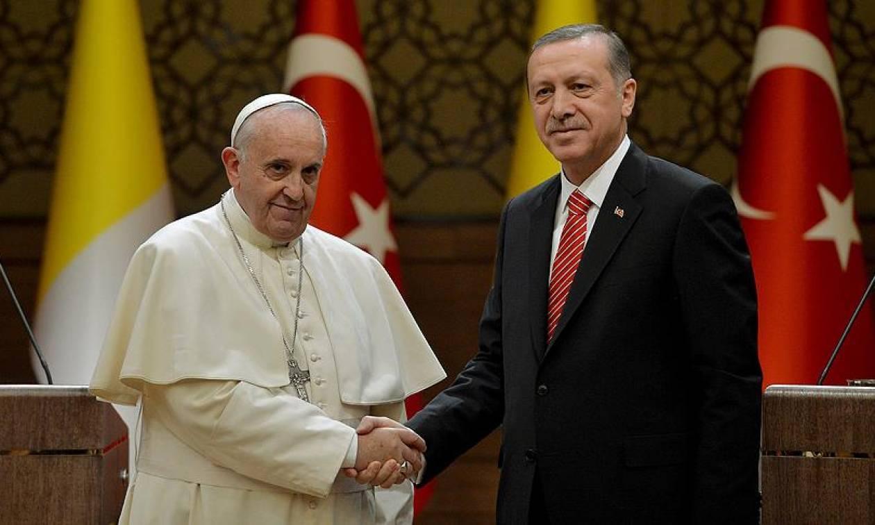 Στο Βατικανό ο Ερντογάν: Η πρώτη επίσκεψη Τούρκου προέδρου στην Αγία Έδρα έπειτα από 59 χρόνια