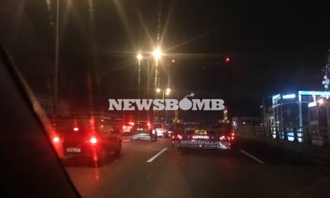 ΤΩΡΑ: Κυκλοφοριακό χάος στον Κηφισό λόγω τροχαίου (pics)