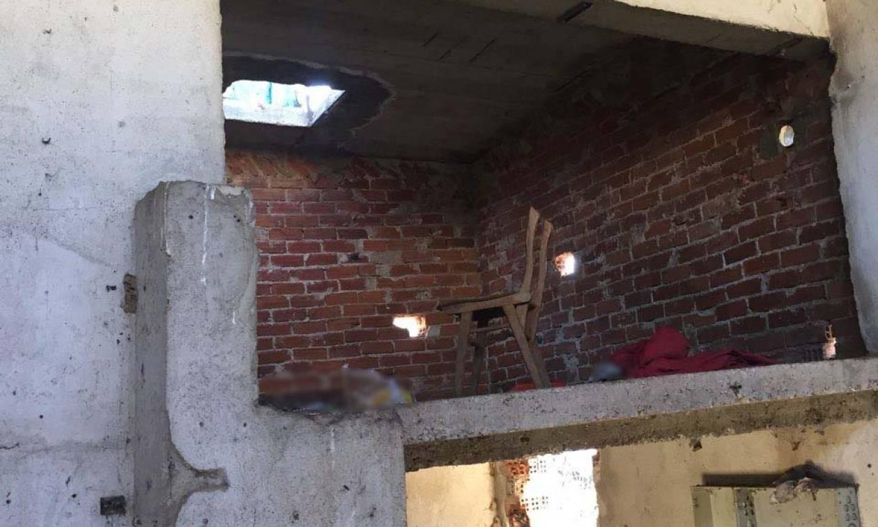 Εικόνες - σοκ: Κρατούσαν αιχμαλώτους τρεις αλλοδαπούς σε αποθήκη στη Θεσσαλονίκη